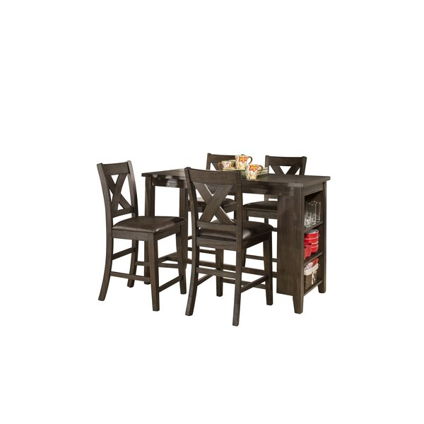 Balthrop Spencer 5 Piece Counter Height Dining Set by Gracie Oaks Gracie Oaks