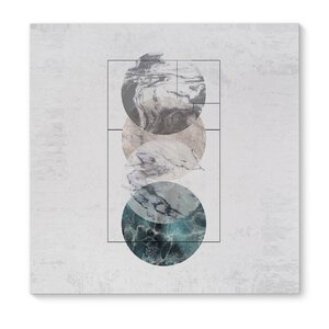 4 Worlds Framed Graphic Art Print on Wrapped Canvas by KAVKA DESIGNS