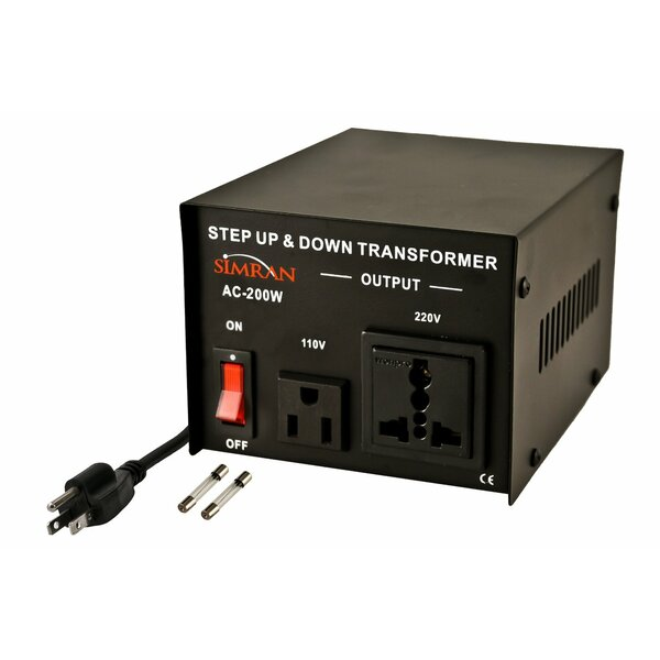 Step Up/Down Voltage 200W Electronic Transformer by Simran