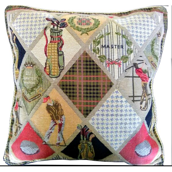 Day on the Course Pillow Cover (Set of 2) by Tache Home Fashion
