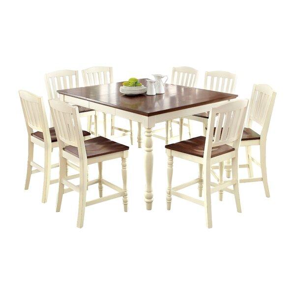 Laureaus 9 Piece Extendable Dining Set by Hokku Designs