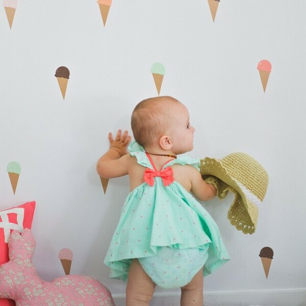 Ice Cream Cones Window Sticker and Film (Set of 50) by Urban Walls