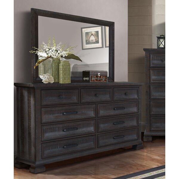 Ridout 9 Drawer Dresser with Mirror by Bloomsbury Market