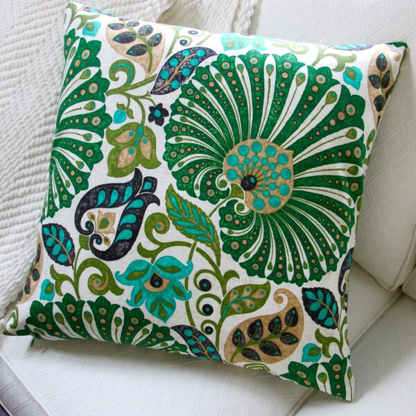 Bankura Floral Modern Indoor Pillow Cover by Artisan Pillows