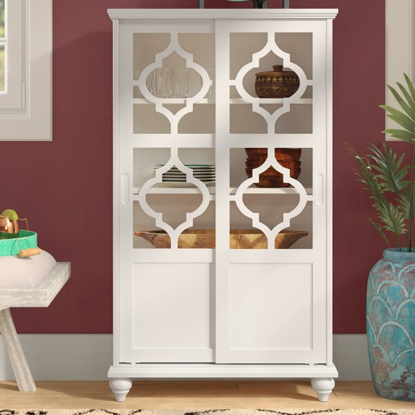 Wilhelmine Wood Curio Cabinet by Bungalow Rose
