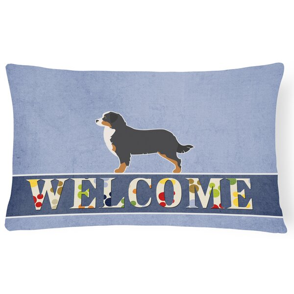 Hargreaves Bernese Mountain Dog Welcome Lumbar Pillow by Red Barrel Studio