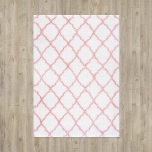 Where buy  Kellie Baby Pink Indoor Area Rug ByViv + Rae