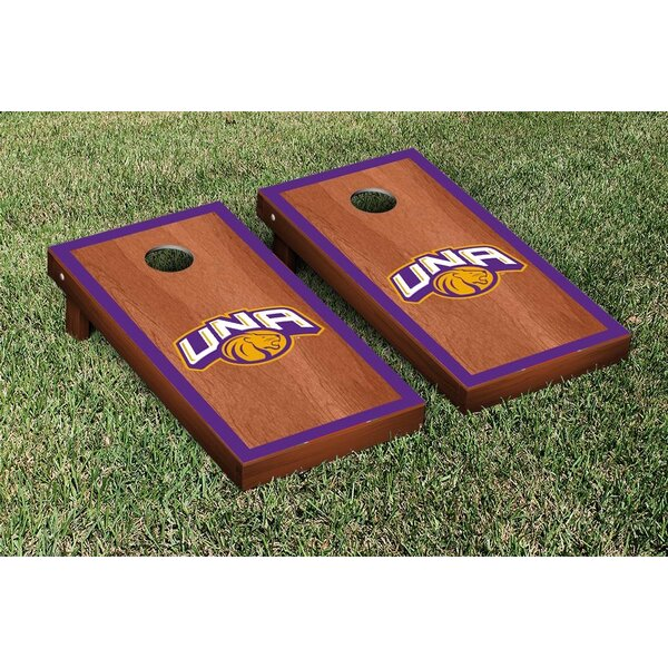 NCAA Rosewood Border Design Cornhole Game Set by Victory Tailgate
