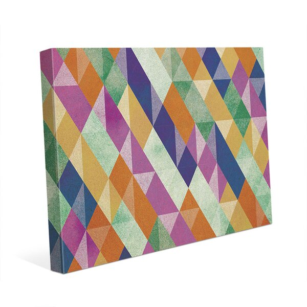 Sporadic Segmentation Graphic Art on Wrapped Canvas by Click Wall Art