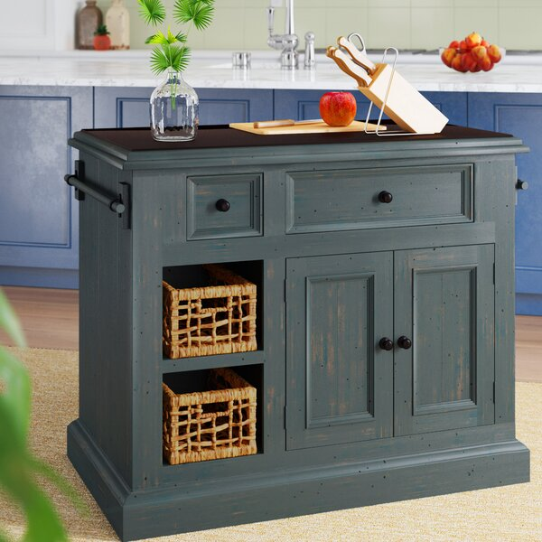 Ziolkowski Kitchen Island with Granite Top by Birch Lane™ Heritage