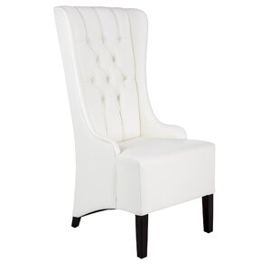 Club Napa Genuine Leather Upholstered Dining Chair by Sunpan Modern