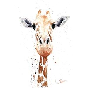 'Giraffe' Print on Canvas by East Urban Home