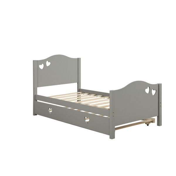 Midwest Twin Platform Bed With Trundle By Harriet Bee
