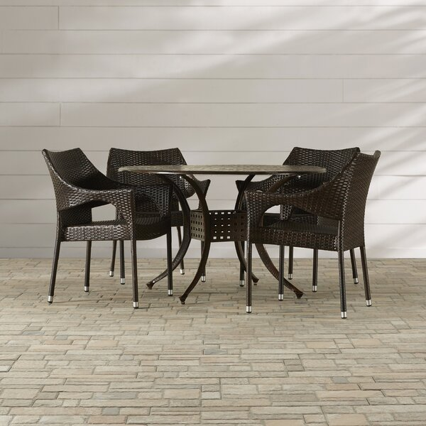 Dingman 5 Piece Outdoor Dining Set by Mercury Row