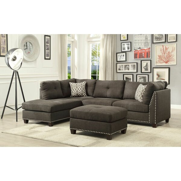 Ruthann Sectional with Ottoman by Ivy Bronx