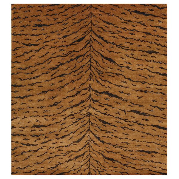 Metropolitan Hand Knotted Wool Bronze Area Rug by Exquisite Rugs