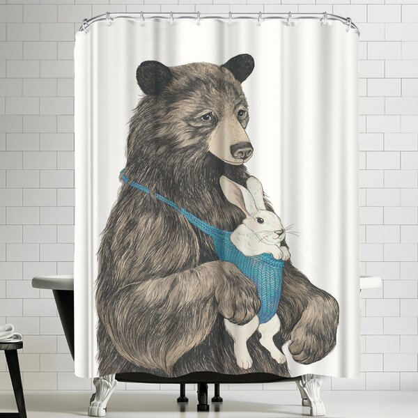 Laura Graves The Bear Aupair Shower Curtain by East Urban Home