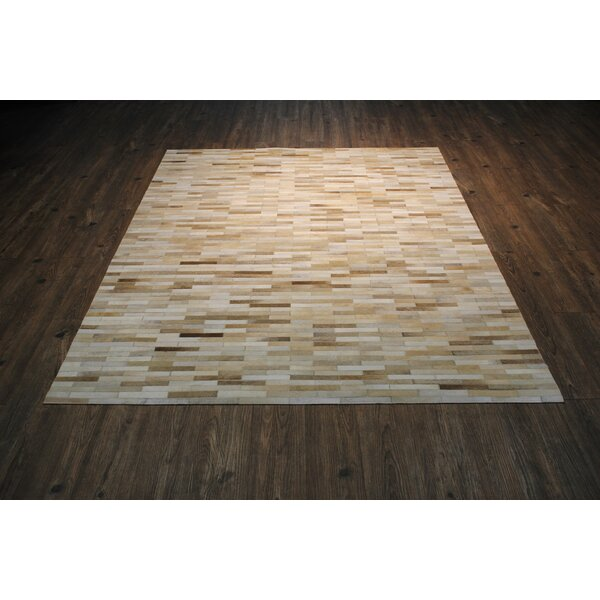 One-of-a-Kind Beldon Hand-Woven Beige Area Rug by Orren Ellis