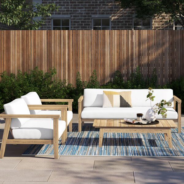 Annalese 4 Piece Sofa Seating Group with Cushions by Foundstone