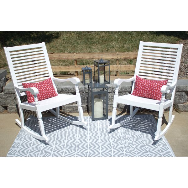 Donnie Elegant Porch Rocking Chair With Cushions (Set Of 2) By August Grove by August Grove Best #1