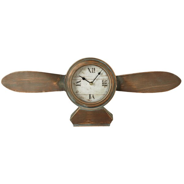 Emblyn Propeller Tabletop Clock by Longshore Tides