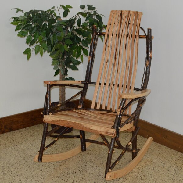 ZanowitZ Hickory Rocking Chair by Loon Peak