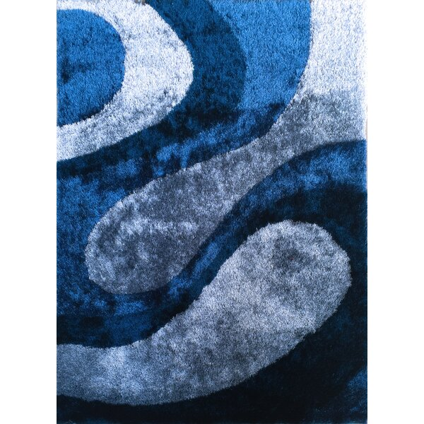 Wilhite Abstract Shag Hand-Tufted Blue Area Rug by Orren Ellis