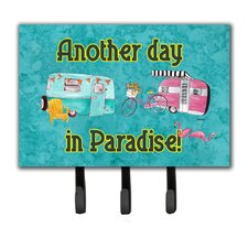 Another Day in Paradise Leash Holder and Key Hook by Caroline's Treasures