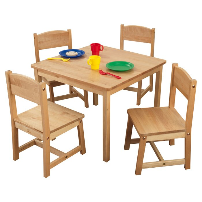 KidKraft Farmhouse Kids 5 Piece Square Table and Chair Set & Reviews