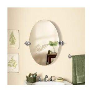 Edge Oval Swivel Bathroom Vanity Wall Mirror