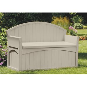 Superb 50 Gallon Resin Storage Bench