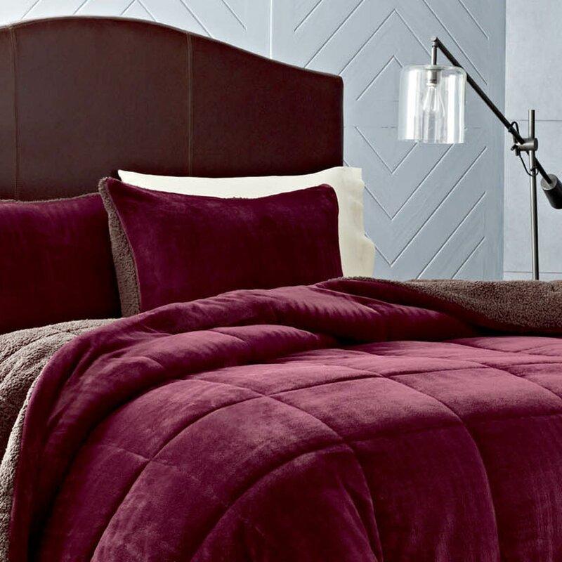 eddie bauer premium fleece reversible comforter set & reviews