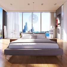 Contemporary Upholstered Platform Bed by UrbanMod