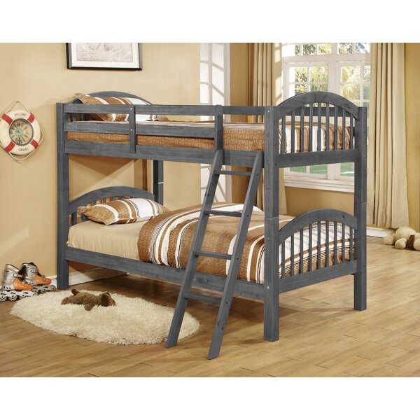 zoomie kids jacey twin over twin bunk bed reviews wayfair - Bunk Bed Frame