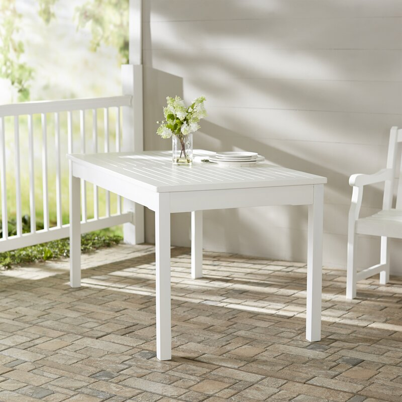 Darby Home Co Mahler Rectangular Dining Table  Reviews Wayfair - White rectangular dining table