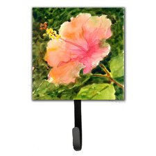 Hibiscus Flower Leash Holder and Wall Hook by Caroline's Treasures