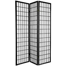 Noan 70 x 42 Window Pane Shoji 3 Panel Room Divider by World Menagerie
