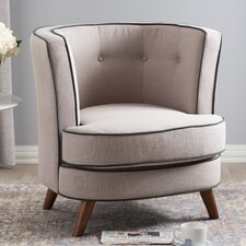 Baxton Studio Michele Upholstered Barrel Chair by Wholesale Interiors