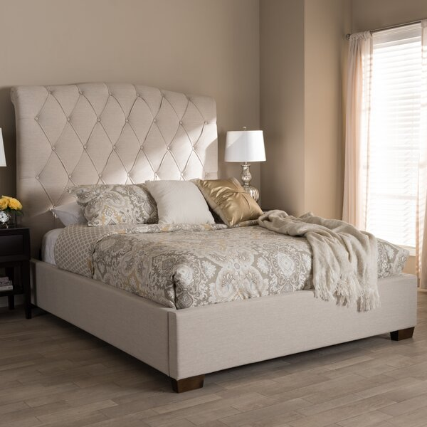 Leavy Upholstered Sleigh Bed by Everly Quinn