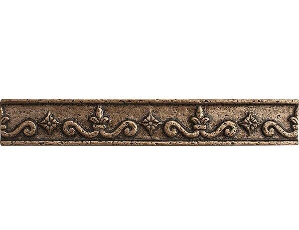 8 x 3 Renaissance Border Accent Tile in Bronze by Parvatile