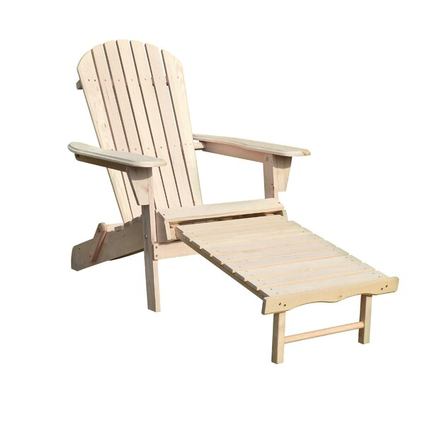 Wood Adirondack Chair with Ottoman by Merry Products
