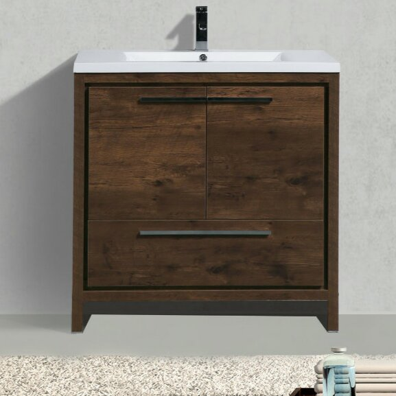 Almendarez Free Standing Modern 36 Single Bathroom Vanity Set by Langley Street
