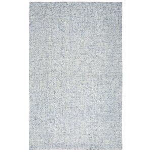 Marsh Hand-Tufted Wool Blue Area Rug