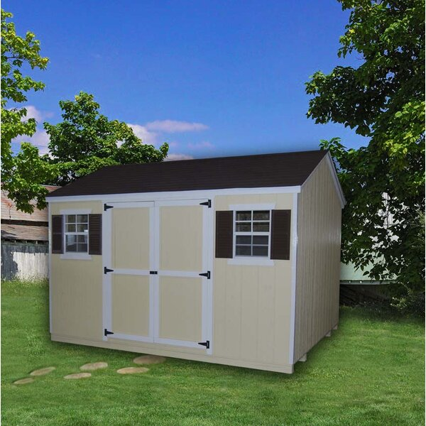 Value Workshop Precut Kit Solid Wood Storage Shed by Little Cottage Company