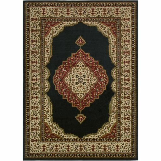 Marvin Black/Khaki Area Rug by Charlton Home