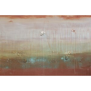 Copper Waves Cresting Wall Art on Wrapped Canvas by East Urban Home