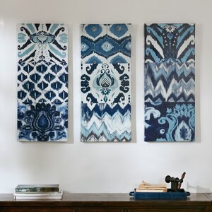 Blooming Pattern' 3 Pieces Painting Print on Canvas Set by Mistana