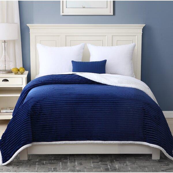 Holtzman Season Reversible Sherpa Velvet Bed Blanket by Red Barrel Studio
