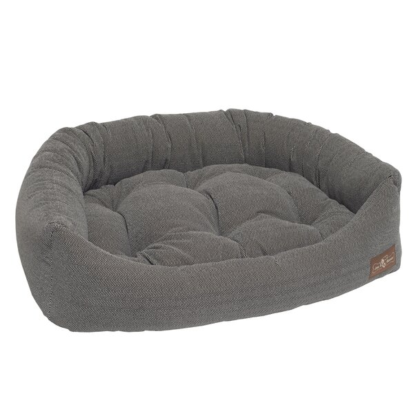 Tweed Printed Microfiber Napper Bed by Jax & Bones