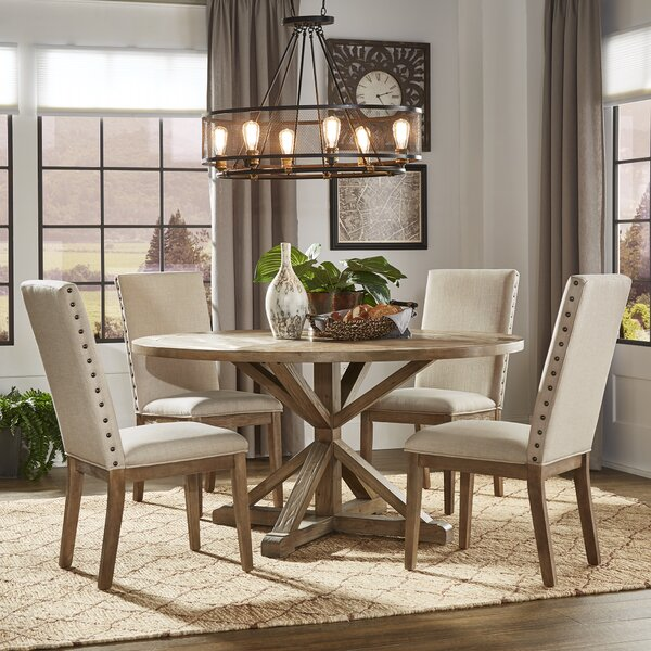 Kieran Rustic X-Base 5 Piece Dining Set By Beachcrest Home